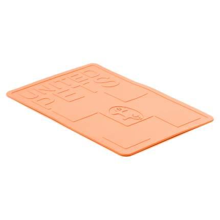 "Коврик под миски United Pets ""Mustafa"" 45 х 30 см, оранжевый"