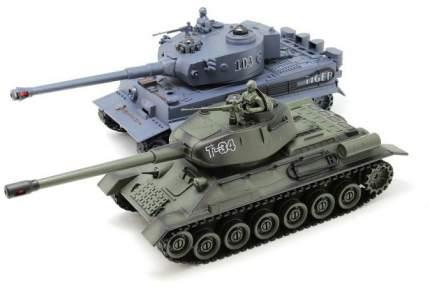 Радиоуправляемый танковый бой Русский Т34 и Немецкий TIGER 2.4G - ZEG-99824