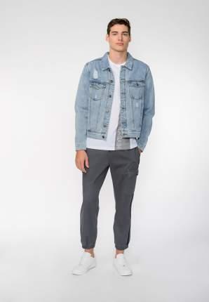 Джинсовая куртка мужская Modis M201D00404 голубая 48 RU