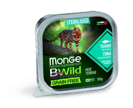 Консервы Monge Cat Bwild Grain free Тунец с овощами для стерилизованных кошек 100г