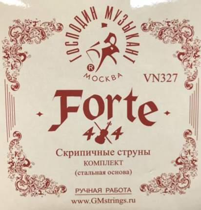 Струны для скрипки Господин Музыкант VN327 FORTE 4/4 Medium Tansion 4/4 сталь