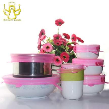 Набор силиконовых крышек 6 шт, розовый, Kitchen Angel KA-LID-04