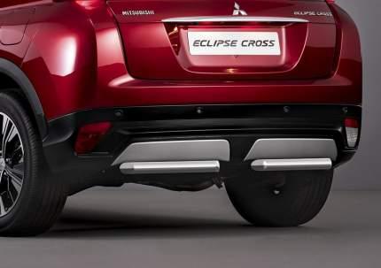 Защита заднего бампера d57 Rival Mitsubishi Eclipse Cross I,  2 части, R.4014.008