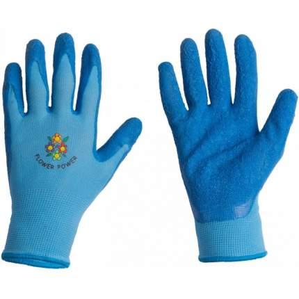 Перчатки LISTOK нейлоновые с каучуковым покрытием (голубые), М