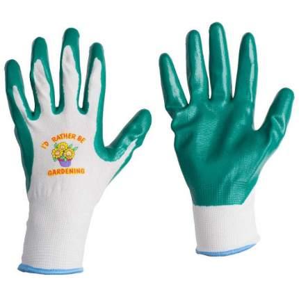 Перчатки LISTOK, нейлон с нитриловым покрытием (зеленые), L