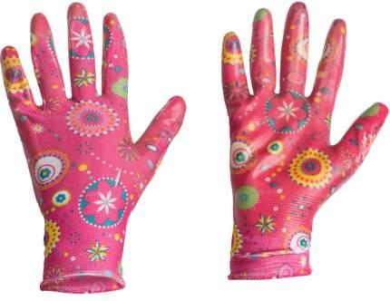 Перчатки LISTOK, нейлон с нитриловым покрытием (розовые), S