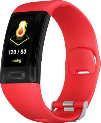 Фитнес браслет GSMIN E11 (2020) с измерением давления, пульса и ЭКГ (Красный)