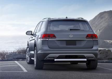 Защита заднего бампера d57 Rival Volkswagen Teramont I 2018-н.в., нерж. сталь, R.5805.005