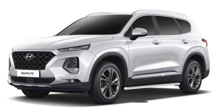 Защита порогов d57 Rival для Hyundai Santa Fe IV 2018-2021, нерж. сталь, 2 шт., R.2312.003