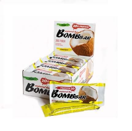 BOMBBAR Bombbar Протеиновые батончики Bombbar, 20 шт, вкус: кокос