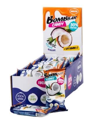BOMBBAR Конфеты Bombbar Candy 18 г, 20 шт, вкус: кокос, кешью, финик