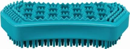 Щетка массажная для животных TRIXIE, натуральная резина, бирюзовая, 6х12 см