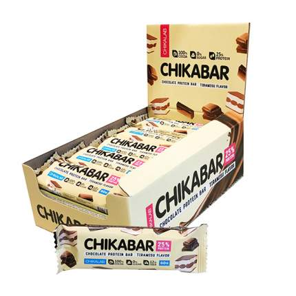 BOMBBAR Батончики Chikabar 60 г, 20 шт, вкус: тирамису с молочной начинкой