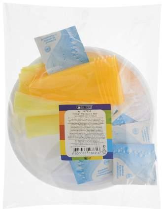 Набор одноразовой посуды мистерия праздник, 36 предметов, цвет белый, желтый