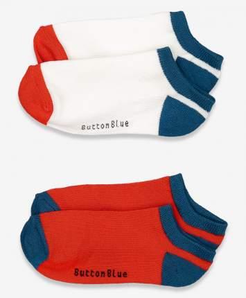 Носки детские 2 пары Button Blue, цв. белый; красный р.20
