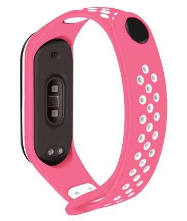 Ремешок для смарт-браслета Nuobi Sport ver.1 для Xiaomi Mi Band 3, Mi Band 4 Pink/White