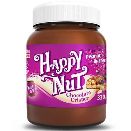 Арахисовая паста HAPPY NUT шоколадная с кусочками 330 г