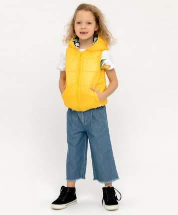 Двухсторонний жилет для девочек Button Blue, цв. желтый, р.122