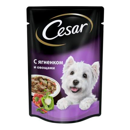 Влажный корм для собак Cesar, ягненок с овощами, 24шт, 100г