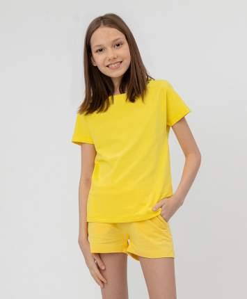 Комплект из 2 футболок для девочек Button Blue, цв. желтый, р.110