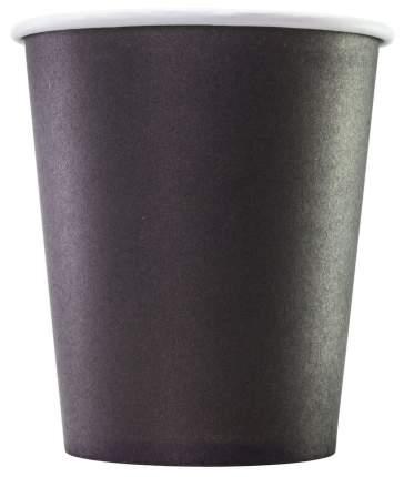 Стаканы Формация одноразовые бумажные однослойные черные 75*250 мл