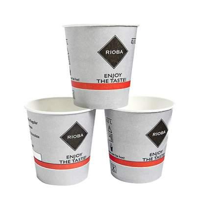 Стакан бумажный одноразовый для горячих напитков 1 л тм rioba (риоба), 80 шт