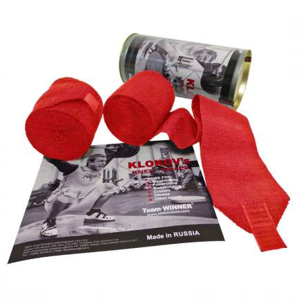 Спортивный бинт Winner красный 350 см