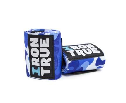 Спортивный бинт IronTrue W-S100-50 синий/белый 50 см