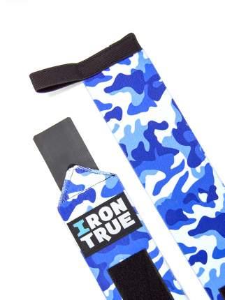 IronTrue Бинты кистевые W-S100-50, 2 шт, цвет: синий камуфляж