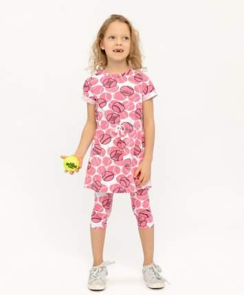 Платье для девочек Button Blue, цв. розовый, р.140
