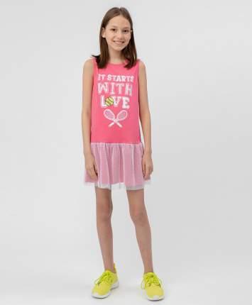 Платье для девочек Button Blue, цв. розовый, р.128