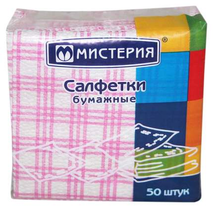 Салфетки бумажные мистерия, 25 см*25см/5 мм50 шт