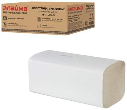 Полотенце бумажные Лайма эконом листовые белые однослойные z укладка 20*250 шт