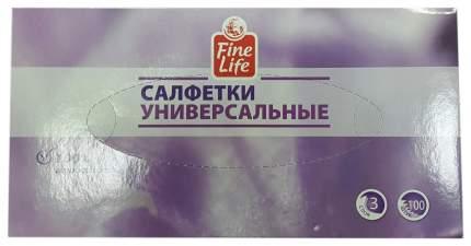 Салфетки fine life универсальные 3 слоя, 100шт