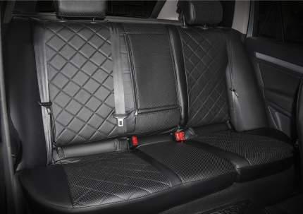 Авточехлы Rival Ромб сидений Kia Ceed II хэтчбек, универсал, эко-кожа, черные, SC.2803.2