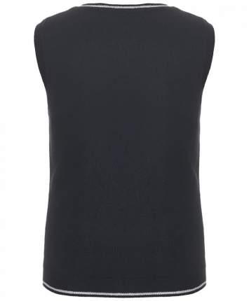Жилет для девочек Button Blue, цв. черный, р.152