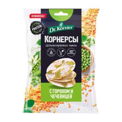 Чипсы Dr.Kornerцельнозерновые рисовые c горошком и чечевицей 50 г 14 шт