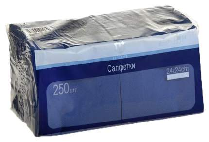 250шт салфетки 24*24 mprof бумаж 2 слоя синий