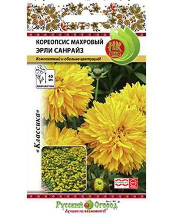 Семена цветов Русский огород Кореопсис махровый Эрли Санрайз 40 шт.