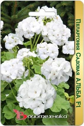 Семена БиотехНика Пеларгония садовая Альба F1, 5 шт.