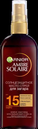 Солнцезащитное масло Garnier Ambre Solaire для интенсивного золотистого загара SPF15 150мл