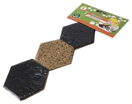 Умничка губка для посуды и тефлоновых поверхностей teflonolux 3 шт. в вакуумной упаковке