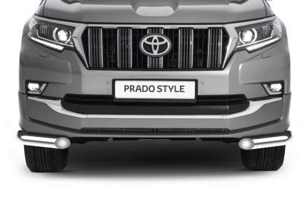 Защита переднего бампера d76 уголки Rival для Toyota Land Cruiser Prado 150 рестайлинг (St