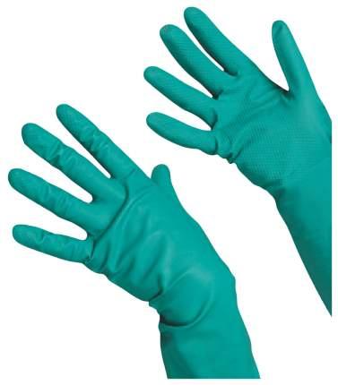 Перчатки Vileda хозяйственные нитриловые универсальные антиаллергенные зеленые размер L