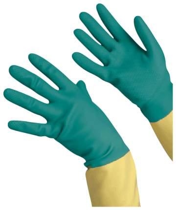Перчатки Vileda хозяйственные латексные с  напылением особо прочные неопрен размер L
