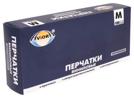 Перчатки виниловые aviora, неопудренные, размер 8 (m), 100 шт
