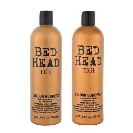 Шампунь и Кондиционер TIGI для окрашенных волос, Bed Head Colour Goddess Oil 2*750 мл