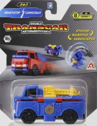 Автовывернушка TransCar Double Эвакуатор - Самосвал машинка 2в1 Т18276