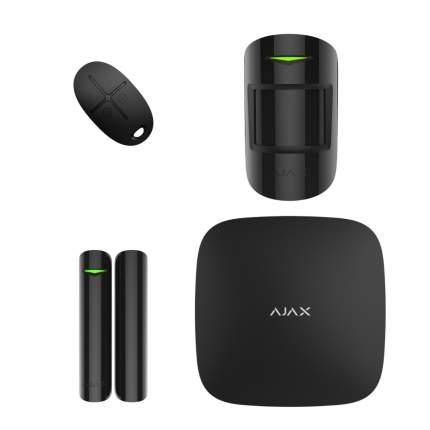 Комплект смарт-сигнализации с Hub Plus Ajax StarterKit Plus черный