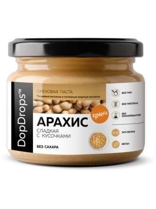 Паста Арахисовая DopDrops Хрустящая Кранч сладкая, 250 г